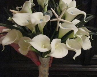 Calla Lillie & Seashells Bouquet
