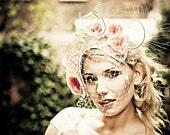Natural-Straw-Pink-Handmade-Flowers-Headpiece-Fascinator-Cocktail-Hat-Races-Wedding-Races-Racing