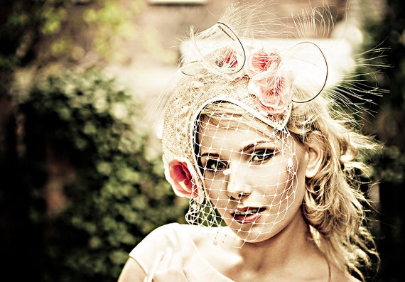 Natural-Straw-Pink-Handmade-Flowers-Headpiece-Fascinator-Cocktail-Hat-Races-Wedding-Races-Racing