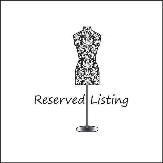 Reserved lisitng for albecker
