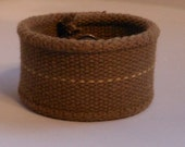 Army Green Up-Cylced Cuff Bracelet