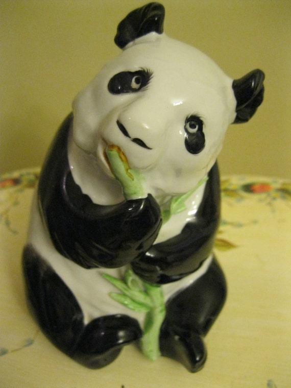 Vintage Panda Bear Ornament
