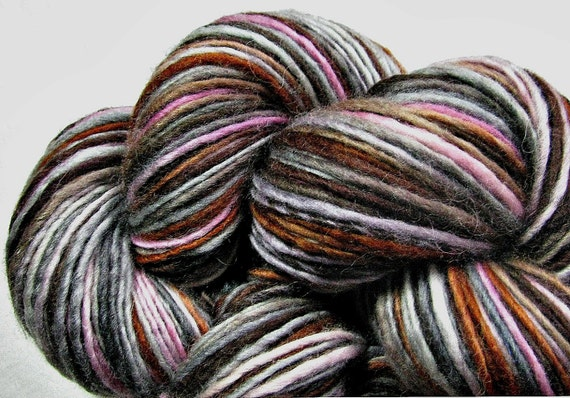 Handspun Yarn Thick and Thin Single Blue Faced Leicester Lynn Vogel's 'Men's Department I' Limited Edition