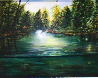 THIRTYFIVE  % OFF 48X38  original oil, Huge framed hand painted piece of fresh for you wall.