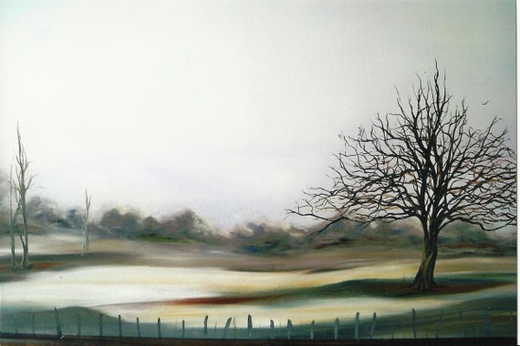 Soft Shades Of  Winter, Sale 25 perct. off original 36in oil