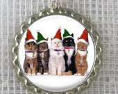 The Group Christmas Photo Bottlecap Necklace