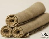 Hand-dyed Sandy Stone Pure New Wool Felt (A Grade)