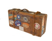 Vintage One of a Kind Leather Travel Trunk