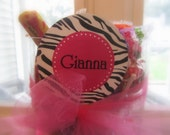 Customized PRINTABLE Cupcake Toppers: Hot Pink and Zebra