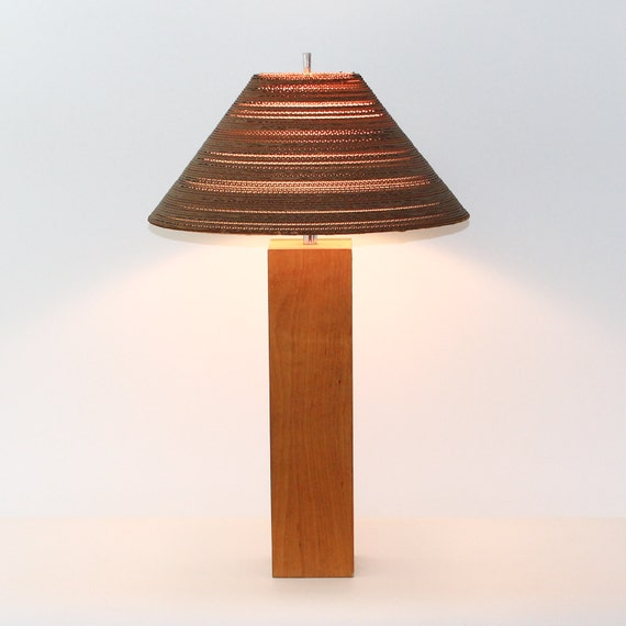 mid century post modern flute lamp and shade by gregory van pelt for. Black Bedroom Furniture Sets. Home Design Ideas