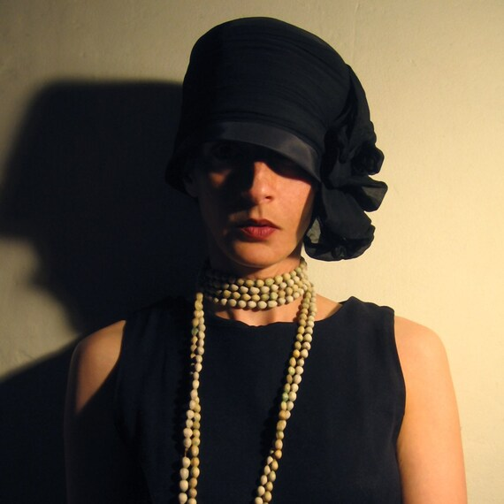 RESERVED FOR fLuffyDReam 1920s Black Hat a la Chanel