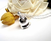 Ringing Bell - Shiny Silver Bell Pendant Necklace