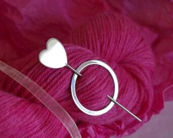 Love Heart Shawl Pin