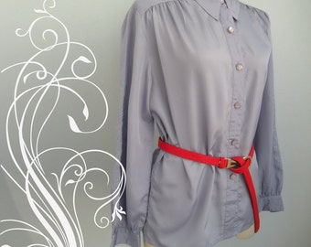 Perfect Purple Embroidery Top Blouse Shirt size 18 or size XL