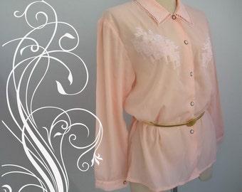 Beautiful Old Rose Embroidery Top Blouse
