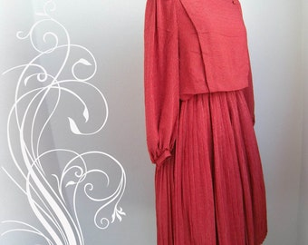 Red Stripes Secretary Dress