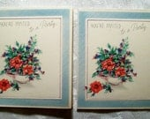 """2 Vintage Cards  """"You're Invited To a Party""""  -  UNUSED - Mint Condition - 1950s"""