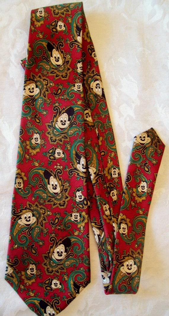 Vintage Disney Micky Mouse Tie by Balancine, The Tie Works, Disney, Clean - 100% Silk