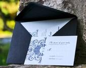 Wedding Elegance Printable Invitation and RSVP card