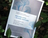 Printable Gingko Leaves Invitation for Wedding, Shower and more