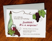 Printable Surprise Party for Wine Lovers Invitation