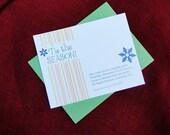 Tis the Season Snowflake Printable Holiday Invitation