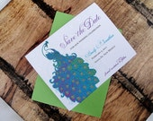 Printable Decorative Peacock Save the Date