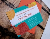 Multicolor Printable Dahlia Invitation