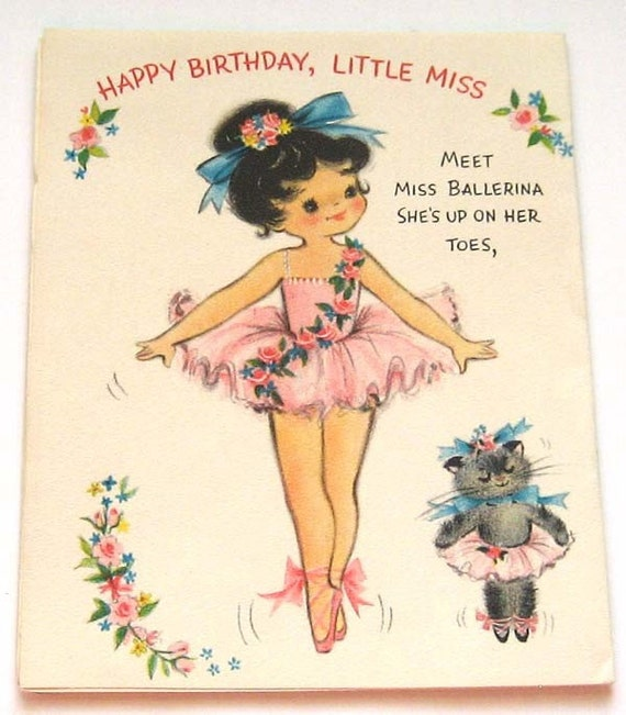 Hallmark Vintage Birthday Card-Happy Birthday Little Miss