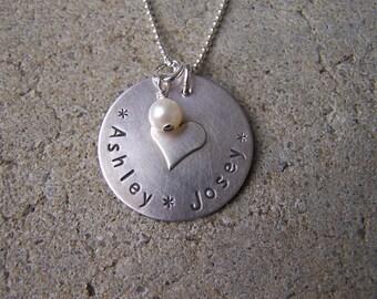Handstamped & Soldered Mother's Necklace