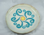 RESERVED for Stefanie - Pottery Plate set of 4 Winds of Change Design
