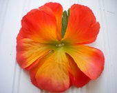 Orange Hibiscus Hair Clip