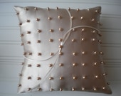 Perfect Pearls Ring Bearer Pillow in Champagne