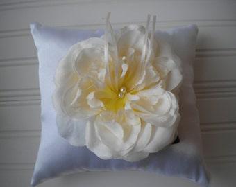Cream Rose Ring Bearer Pillow