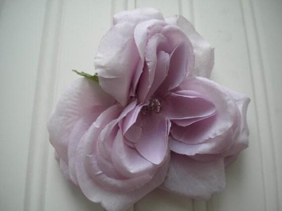 SALE-Light Purple Rose Hair Clip