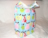 Apples and Pears Insulated Lunch Bag