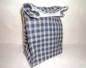 Insulated Lunch Bag - Blue Plaid