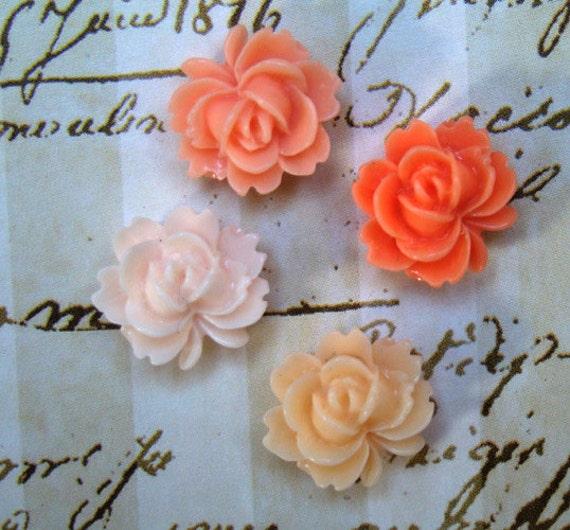 Peach Rose Fridge Magnet Set