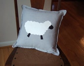 "White Sheep 13""  decorator pillow - Made to Order -  FREE US SHIPPING"