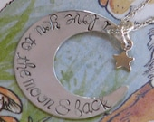 I Love You To The Moon and Back, Sterling Silver Necklace with star charm