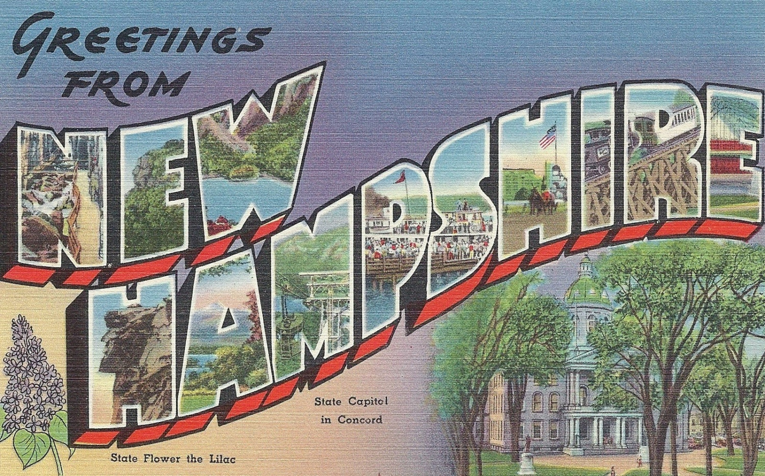 Reserved For Meghan Vintage Postcard Greetings From New