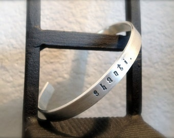 Shanti Silver Stamped Bracelet