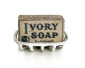 Antique Ivory Soap Wrapped Bar - Great Royal Blue Graphics