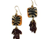Tiger Striped Ethnic Earrings