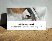 Letterpress Artist Cards - set of 100