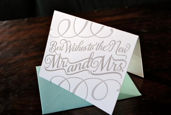 Letterpress New Couple Cards
