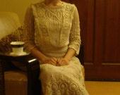 SOLD Heirloom Antique Circa 1910 Edwardian Wedding Dress Sz XS/S
