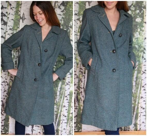 vintage harris tweed wool coat