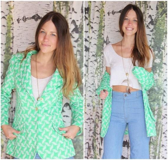vintage 1970s blazer jacket - Grass is Greener