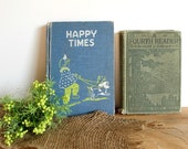 RESERVED for Alison. Antique Children' s Book. 1954 Happy Times